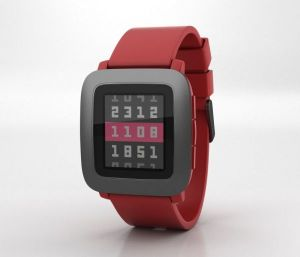 Pebble Time - Red
