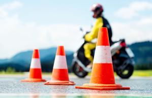 Motorcycle school for Alexandra Straub story