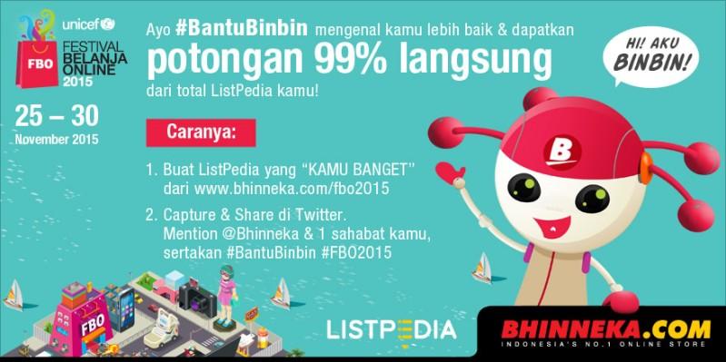 Ayo #BantuBinbin via twitter @bhinneka