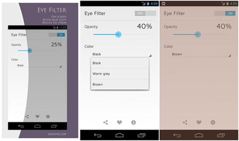 Penampakan filter Blue Light di Smartphone