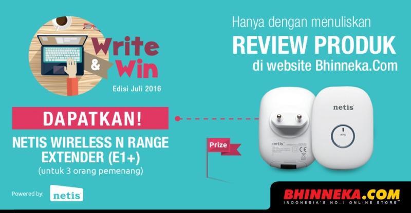 Hadiah Write & Win edisi Juli 2016