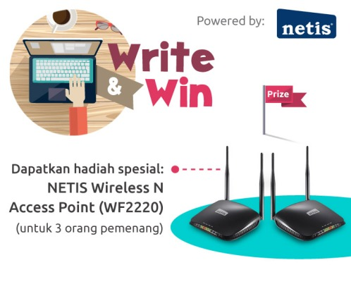 Hadiah Write & Win edisi Agustus 2016