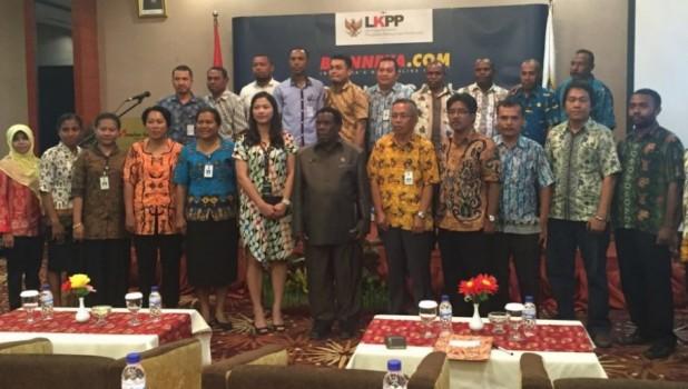 Peserta Sosialisasi e-katalog LKPP di Manokwari, Prov. Papua Barat