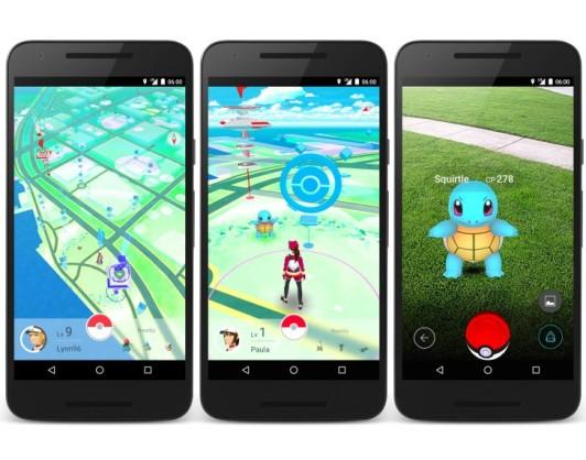 Tampilan game Pokemon Go saat dimainkan di smartphone kamu